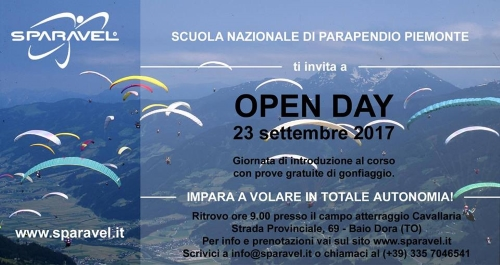 open day sparavel 2017 settembre